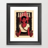 Framed Art Print featuring Adelita by Anne Cobai