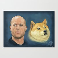 Josh Wise and Doge Canvas Print