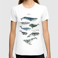 watercolor T-shirts featuring Whales by Amy Hamilton