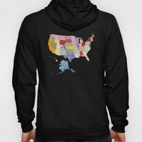 United States in Flowers Hoody