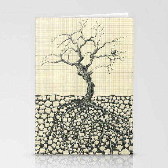 Artificial Tree N.13 Stationery Card