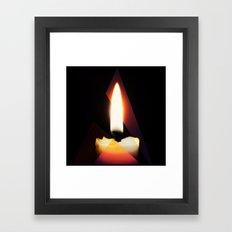 Tri-Flame Framed Art Print