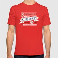 Philippians 4:13 Mens Fitted Tee Red SMALL