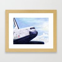 Enterprise Through The C… Framed Art Print