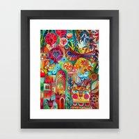 Magical Rune Bird And  R… Framed Art Print