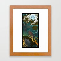 Sprite And Lilies Framed Art Print