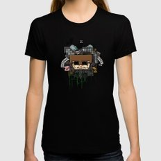 CRAFT - Book Cover Womens Fitted Tee Black SMALL