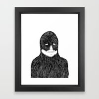 Shaved Chewbacca Framed Art Print