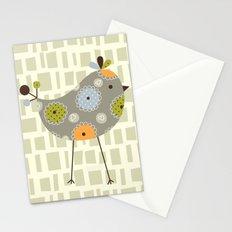 Grey Tweetie Bird Stationery Cards