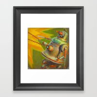 BitchBot Attacks DickBot Framed Art Print
