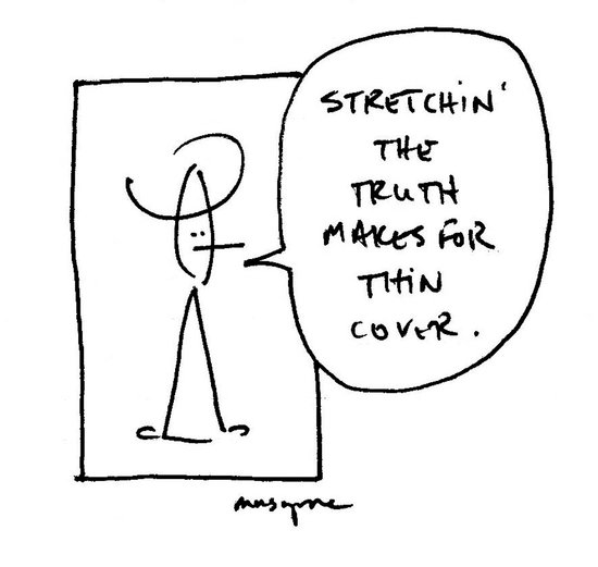 Stretchin' the Truth Art Print