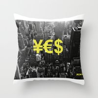 YES NYC Throw Pillow