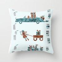 Present Transportation Throw Pillow