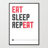 EAT SLEEP REPEAT Canvas Print