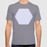 Ysabel (lavender) Mens Fitted Tee Slate SMALL