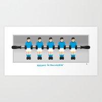 Manchester City table football (Fossball) Art Print