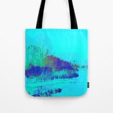 Emerging from the fog Tote Bag