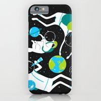 A Day Out In Space - Bla… iPhone 6 Slim Case