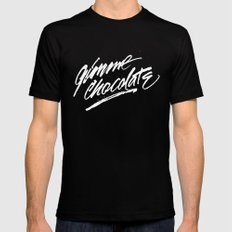 Gimme Chocolate Mens Fitted Tee Black SMALL