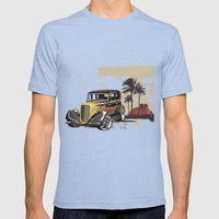 Hot Rod Paradise Mens Fitted Tee Tri-Blue SMALL