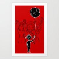 For Black Women Art Print