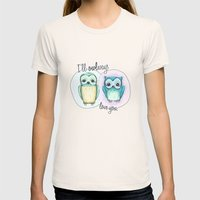 Owls Womens Fitted Tee Natural SMALL