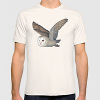 Barn Owl at Night Mens Fitted Tee Natural SMALL