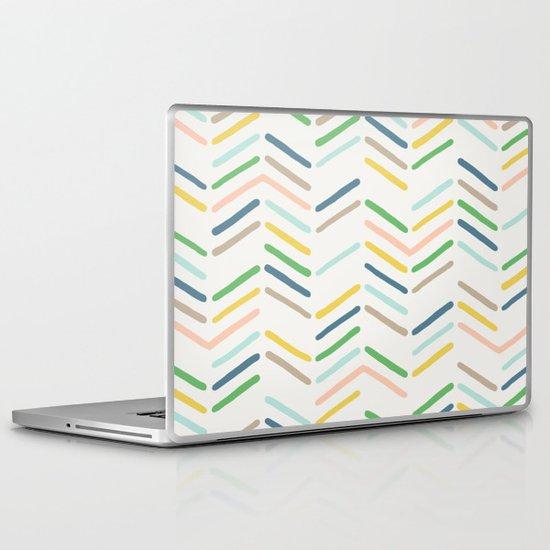 Mixed Herringbone - in Emerald Laptop & iPad Skin