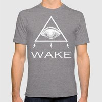 WAKE - TRI Mens Fitted Tee Tri-Grey SMALL