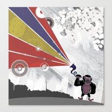 Audio Gorilla Canvas Print