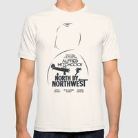 North by Northwest - Hitchcock Movie Poster Mens Fitted Tee Natural SMALL