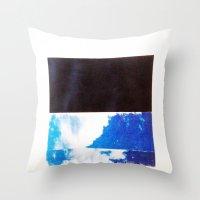 SKY/BLK Throw Pillow