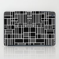 Map Lines Black iPad Case