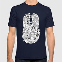 Adulthood Mash-Up Mens Fitted Tee Navy SMALL