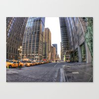 Canvas Print featuring City Streets by Christine Workman