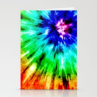 Tie Dye Meets Watercolor Stationery Cards