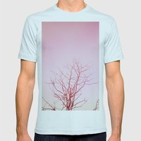 Tree Top Mens Fitted Tee Light Blue SMALL