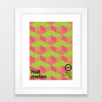 hull melon single hop Framed Art Print