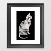 Big And Small Cat. Framed Art Print