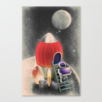 Canvas Print featuring Rocketship Goes By by Aditya Nugraha Putra