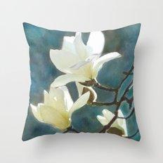 White Magnolia's One Throw Pillow