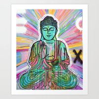 Psychedelic Buddha Art Print