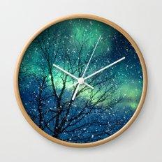 Aurora Borealis Northern Lights Wall Clock
