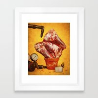 Foodscapes II: Growing meat Framed Art Print