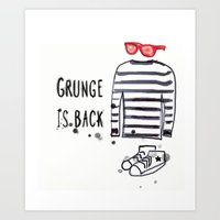 Grunge Is Back Art Print
