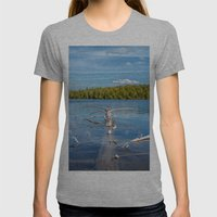 Smoke Lake Womens Fitted Tee Athletic Grey SMALL