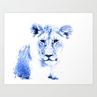 Rainbow Animals Lion Art Print