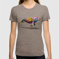 Tagged Whale Womens Fitted Tee Tri-Coffee SMALL