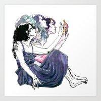 Distort Art Print
