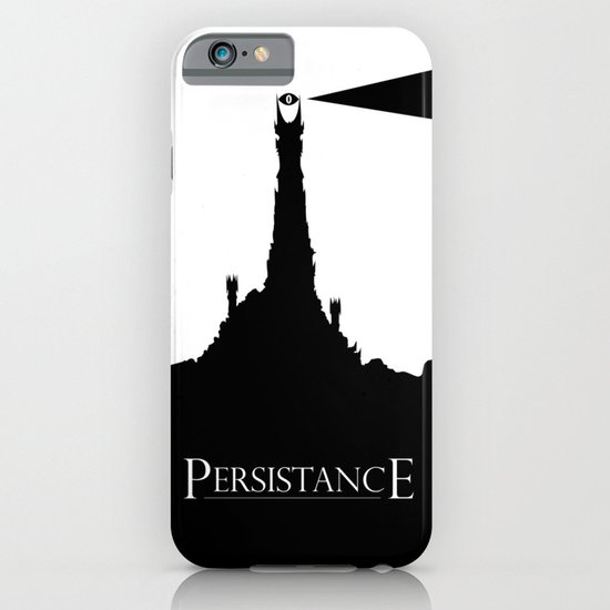 Lord of the Rings Motivational Poster - Persistance iPhone & iPod Case